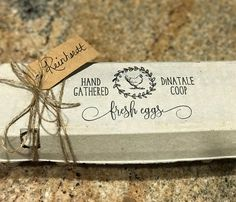 This Chicken Egg Carton Stamp is a great way to customize your egg cartons, signs and gift tags. Use at Farmers markets or on your egg labels that you deliver to friends. Promote your egg business or hobby with website or other contact information. . . . . . . . . . . . . . . . . . . . . . . . . . . . . . . . . . . . . . . . . . . . . . . . . . . . . . . . . . . . . SIGN UP for freebies: www.subscribepage.com/j0e5m2 When you order a Southern Paper & Ink stamp, you'll enjoy fast, ...