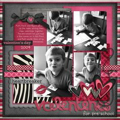 love the color combo and use of ribbons and love that I could put more than 1 pic on the page!