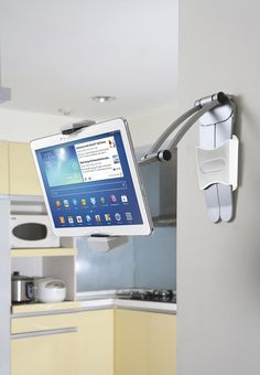 Replace your old cookbook stand with a hand and beautiful tablet holder for kitchen! - www.MyWonderList.com