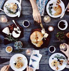 Une belle table pour le brunch