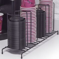 Sorbus 4 Section Cup and Lid Shelving Rack & Reviews | Wayfair