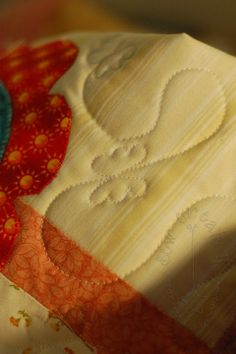 Free-motion Quilted Butterflies