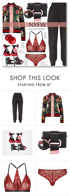 """""""Flower power"""" by mood-chic ❤ liked on Polyvore featuring Gucci, Prada, Topshop, TONYMOLY, Urban Decay and NYFW"""