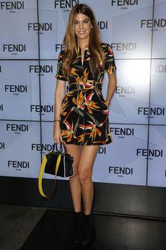 Bianca Brandolini d'Adda au défilé Fendi printemps-été 2016