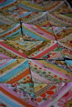 String Scrappy Quilt ~An idea for all those scraps   ~m