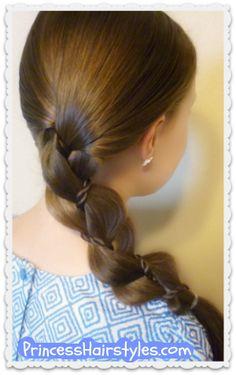 Braid with a twist, easy hair tutorial