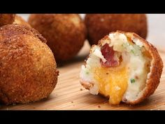Loaded Cheese-Stuffed Mashed Potato Balls - Recipe + Preparation - Tasty VIDEO - YouTube