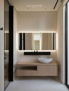 Super ideas for modern bathroom brown interior design Contemporary Interior Design, Bathroom Interior Design, Contemporary Stairs, Contemporary Cottage, Contemporary Apartment, Contemporary Wallpaper, Contemporary Chandelier, Contemporary Office, Interior Door