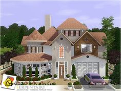 Serpentaire house by Onyxium - Sims 3 Downloads CC Caboodle Check more at http://customcontentcaboodle.com/serpentaire-house-by-onyxium/