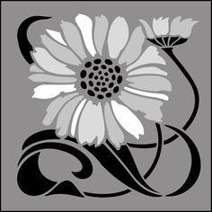Art Nouveau stencils from The Stencil Library. Buy from our range of Art Nouveau stencils online. Page 1 of our Art Nouveau tile stencil catalogue. Motifs Art Nouveau, Art Nouveau Flowers, Art Nouveau Tiles, Art Nouveau Design, Stencil Painting On Walls, Stencil Art, Stencil Designs, Tile Stencils, Art Nouveau Tattoo