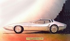 1968 Plymouth Barracuda Concept, Design & Sketch by J. Samsen
