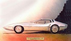 1968 Plymouth Barracuda Concept, Design & Sketch by J. Samsen