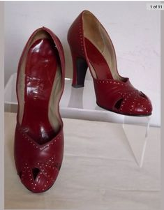 1950s Cherry Red Shoes size 5 MY latest purchase. -