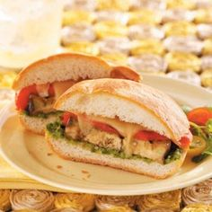 Grilled veggie sandwich with cilantro pesto-1 sandwich-290 calories(less with no cheese)