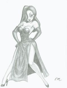 Jessica Rabbit Commission by em-scribbles on DeviantArt