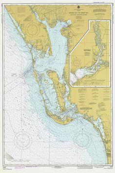 Nautical Chart  Estero Bay to Lemon Bay 1977 by AtomicPhoto
