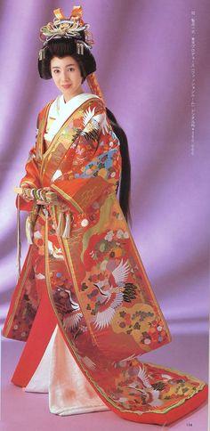 Japanese Wedding Kimono, Japanese Kimono, Kabuki Costume, Japanese Textiles, Yukata, Textile Art, Sari, Costumes, Fashion