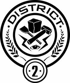 District 2 Seal by Hunger Games Logo, Clove Hunger Games, Hunger Games Party, Hunger Games Catching Fire, Hunger Games Trilogy, Tribute Von Panem Film, Hunger Games Districts, 2 Logo, Harry Potter Art