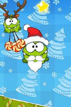 Advance Christmas from Om Nom, the little monster!