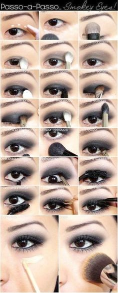 Eye Makeup Tutorial For Black Eyes Black Smoky Eye Makeup Tutorial For Asian Eyes Make Up Tips Eye Makeup Tutorial For Black Eyes Top 10 Amazing Black Eye Makeup Tutorials Pretty Designs. Eye Makeup Tutorial For Black Eyes How To Do Smokey Eye M. Black Eye Makeup, Asian Eye Makeup, Eye Makeup Steps, Mac Makeup, Smokey Eye Makeup, Makeup Eyeshadow, Winged Eyeliner, Makeup Brushes, Monolid Makeup