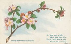 Spring vintage Holiday postcard