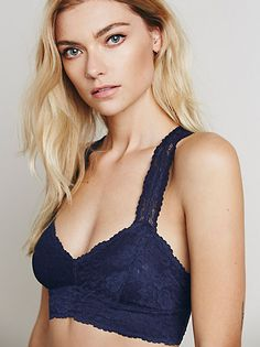 2dc0e4a570a57 Free People Galloon Racerback Lace Bra in Navy - Bella Funk Boutique  Fashion Tips