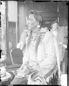 Two Guns White Calf - Blackfeet (Pikuni) - 1925 {Note: He has a large Shriners Masonic symbol pinned to his chest.}