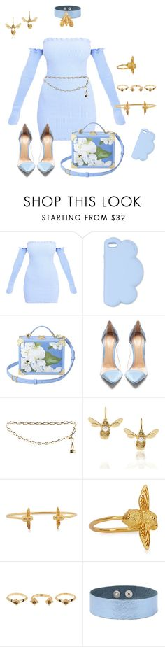 """Baby Blues and Bees"" by jeunesauvage ❤ liked on Polyvore featuring STELLA McCARTNEY, Aspinal of London, Gianvito Rossi, Louis Vuitton, Alex Monroe, Olivia Burton, House of Harlow 1960, Forever 21 and Chaumet"