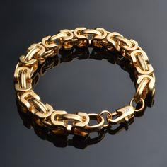 JEXXI  Gold Plated Stainless Steel Bracelet Wristband Friend Hand Chain Mens JEWELRY Wholesale Fashion High Quality