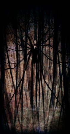 An artists' depiction of the Slenderman, which is said to have been involved in the disappearances of scores of children. None of which have ever been found.