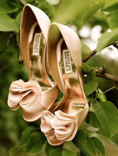 Beautiful pink pumps. Great for weddings.