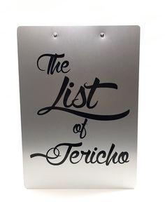 WWE The List Of Jericho Clipboard Aluminum Low Profile Clipboard Chris Jericho - http://bestsellerlist.co.uk/wwe-the-list-of-jericho-clipboard-aluminum-low-profile-clipboard-chris-jericho/