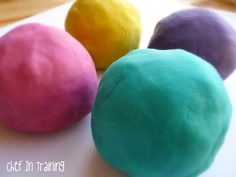playdough recipe! (i made this but didn't have food coloring . . . so i useda packet of kool-aid.)