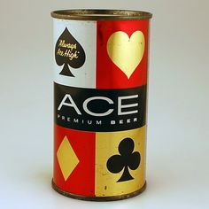 Ace Premium Beer from our extensive collection of old beer cans and Breweriana. Beer Packaging, Vintage Packaging, Beer Can Collection, Old Beer Cans, Premium Beer, Beer Brands, Beer Signs, Beer Recipes, Best Beer