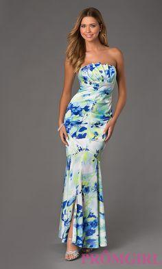 Floor Length Strapless Print Dress $326.99 Prom 2015