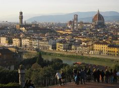 Piazzale Michelangelo  Viale Michelangelo, 50125 Florence, Italy  A great park to see the view of Florence,  A nice walk
