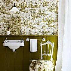 Toile de Jouy in a Bathroom