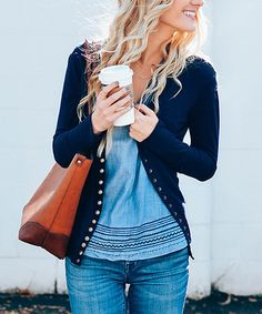 Another great find on #zulily! Navy Snap Cardigan #zulilyfinds