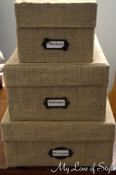 DIY Custom Burlap Storage Box