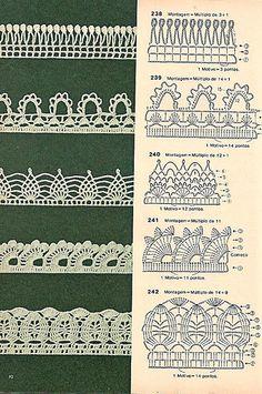 Bicos de crochê by LeiaCook, via Flickr