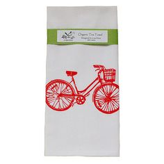 Found it at Wayfair - Organic Bike Block Print Tea Towel Folder Design, Green Ribbon, Joss And Main, Hostess Gifts, Tea Towels, House Warming, Hand Carved, Print Design, Organic Cotton