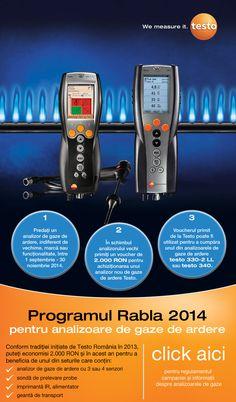 Testo Romania: Programul Rabla 2014 pentru analizoarele de gaze Portal, Personal Care, Beauty, Self Care, Personal Hygiene, Beauty Illustration
