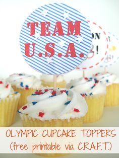 Free printable cupcake toppers for the 2012 London Olympics!