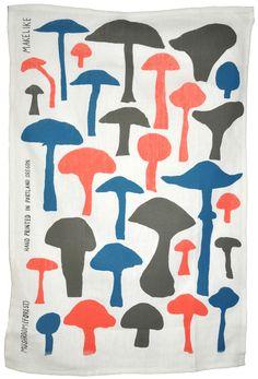 Mushroom Forest Tea Towel