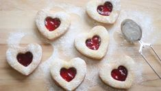 Heart-Shaped Valentine Linzer Cookies