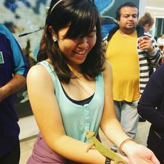 Instagram photo by @iskrajj: The chameleon climbed up my arm as if it was a tree branch! Had fun at Science Uncovered at NHM today (: #SU2014