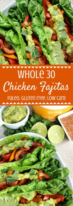 Whole 30 Chicken Fajitas