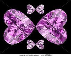 Heart diamond butterfly. 3D illustration. 3D CG. High resolution. Format 4:3.