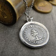 Keep Promise  wax seal necklace with yew tree  by RQPStudio, $59.00