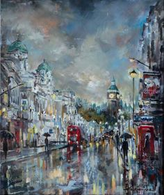 Buy 'Westminster Dusk', Oil painting by Ewa Czarniecka on Artfinder. Discover thousands of other original paintings, prints, sculptures and photography from independent artists.